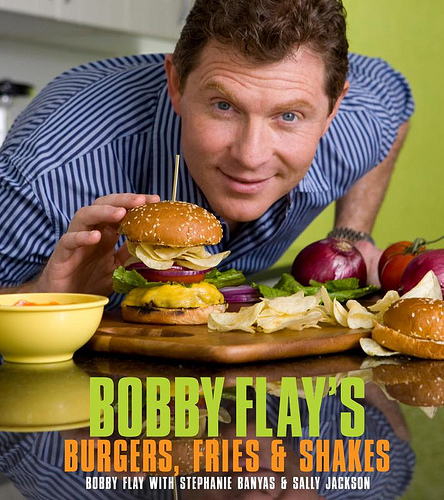 Bobby Flay's new book titled 'Burgers, Fries & Shakes'