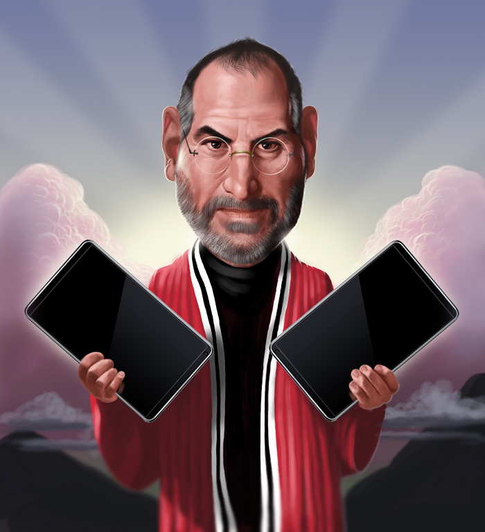 Steve Jobs is like Moses. He comes forth creating magical products that huge sums of money