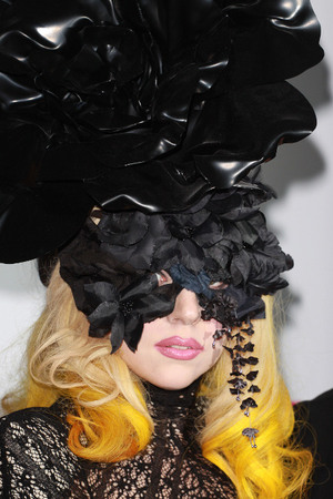 Lady Gaga Chanel designer headpiece