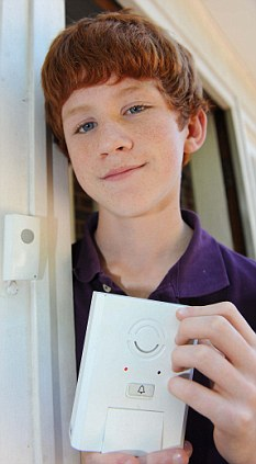 Schoolboy Lawrence Rook, 13, invented Smart Bell, which calls your mobile when the doorbell is rung