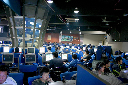 Typical Chinese internet cafe