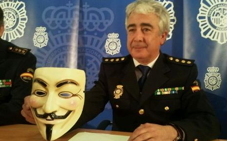 Spanish police arrested three young men suspected of being members of the cyber group Anonymous