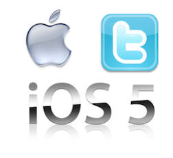 Apple integrates twitter with mobile iOS