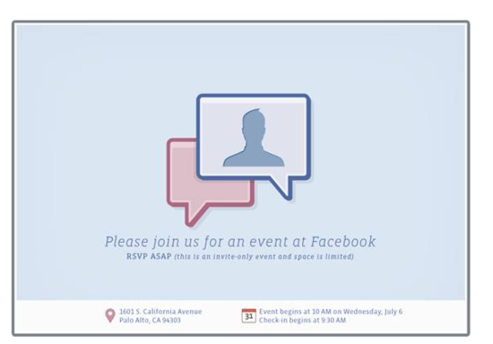 Please join us for an event at Facebook