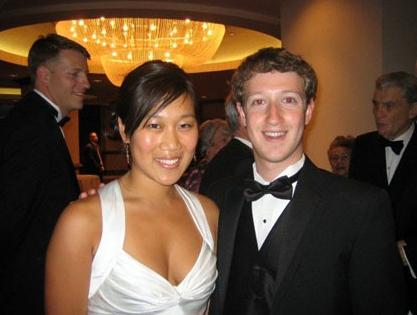 Mark Zuckerberg and longtime girlfriend Priscilla Chan at a screening of The Social Network film
