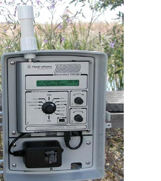 HydroPoint weather stations like this one transmits weather conditions on the ground to Hydropoints WeatherTRAK satellite