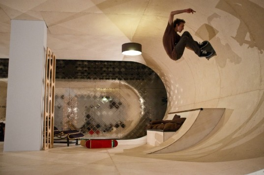 The PAS Skateboard House is the idea of Pierre Andre Senizergues the founder of Etnies and eco meanswear designer 1