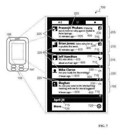 Google Social Hub patent application illustration 7