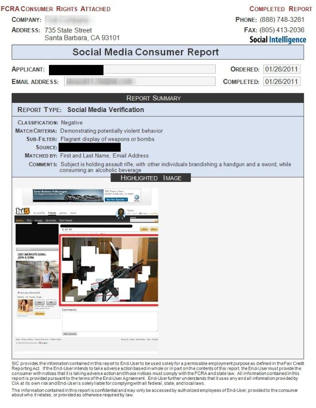 Social Intelligence - Social Media Consumer Report