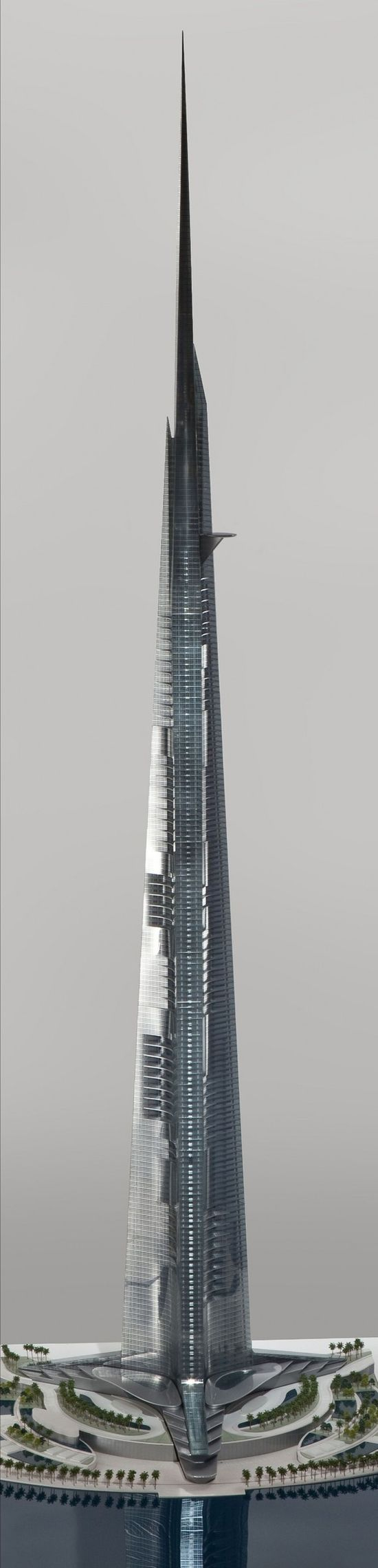 Kingdom Tower will be built in Jeddah, Saudi Arabia and measure  over 1000 meters high