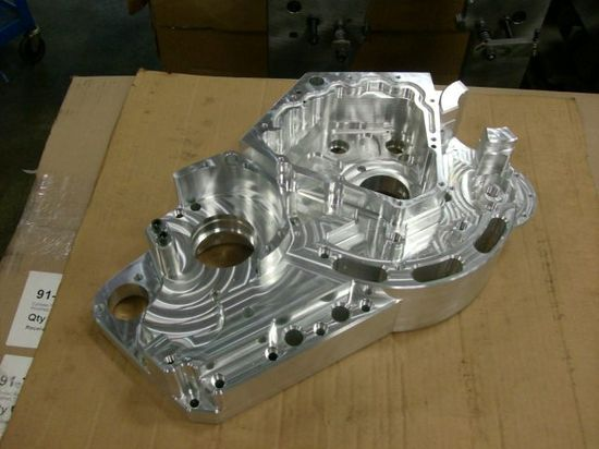 Confederate X132 Hellcat powertrain case is CNCd from a single block of aircraft-grade billet aluminum