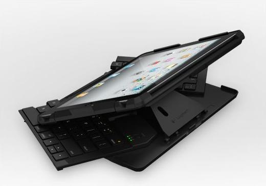 Logitech Fold-up Keyboard for the iPad 2 swings out and in to fold