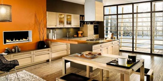 Modular Orange Kitchen 12