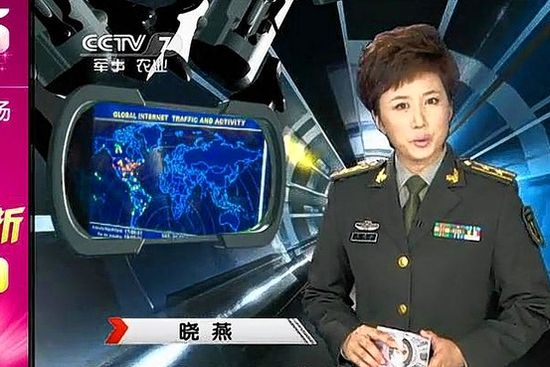 Chinese female TV commentator appears to contradict assertions that China does not conduct cyberattacks