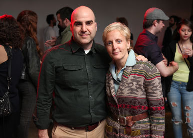 Eddie Bauer's (l-to-r) Nathan Laffin, SVP and Creative Director and Donata Maggipinto, VP and Creative Director
