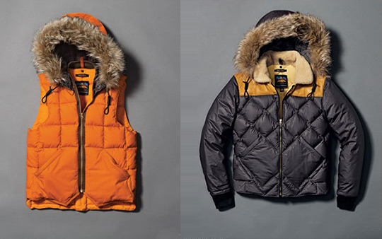 Nigel Cabourn designed the new quiltted jackets for Eddie Bauer's Fall 2011 collection