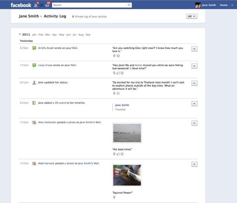 Facebook Timeline Profile B