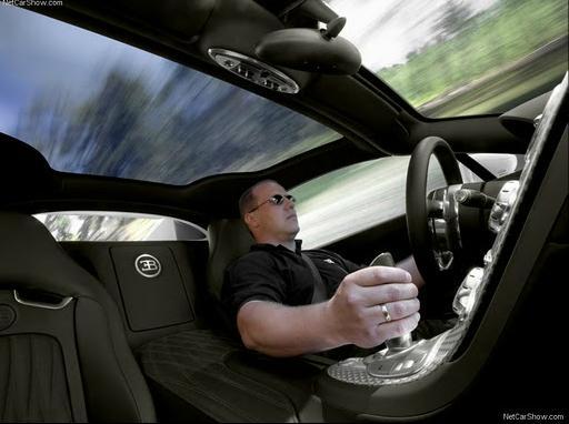 Bugatti Veyron Grand Sport with driver