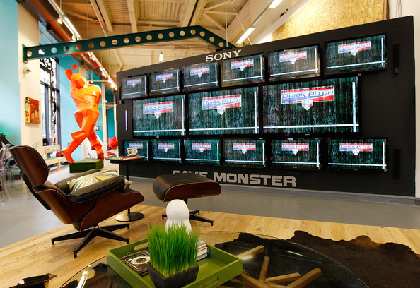 New York's MLB Fan Cave where baseball fans can watch at least 2,454 MLB games of the 2011 season from inside a transparent room