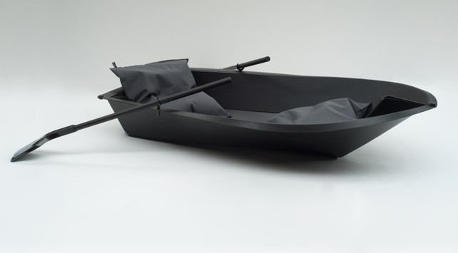 Foldboat folded and ready for the water