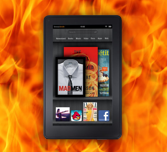 Sales of Amazon's Kindle Fire tablet is literally ON FIRE