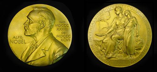Nobel Prize for Medicine front and back side
