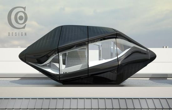 Eco-Friendly Rooftop Hotel Capsule 2
