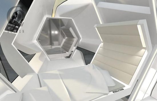 Eco-Friendly Rooftop Hotel Capsule 3