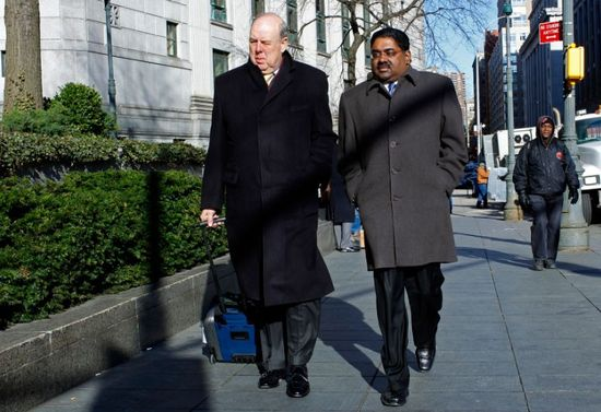 Raj Rajaratnam and his sorry looking lawyer John Dowd
