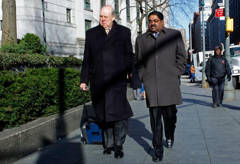 Raj Rajaratnam and his sorry looking lawyer John Dowd