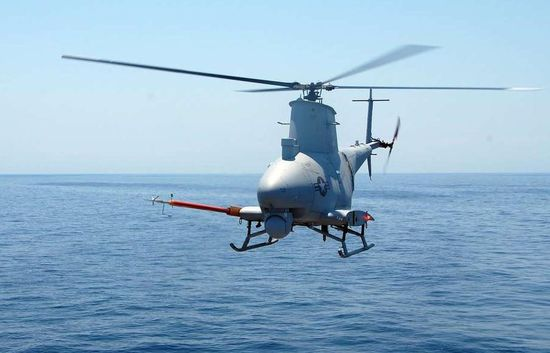 MQ-8B Fire Scout conducting tests somewhere in the Atlantic in May 2009