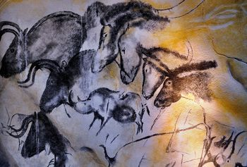 Cave of Forgotten Dreams. Beginning some 32,000 years ago, artists brought forth their visions of horses, lions, and bulls in limestone caverns dotting the banks of the Ardeche River in southern France.