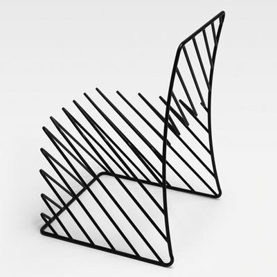 Chair, Thin Black Line Series, by Nendo, 2010