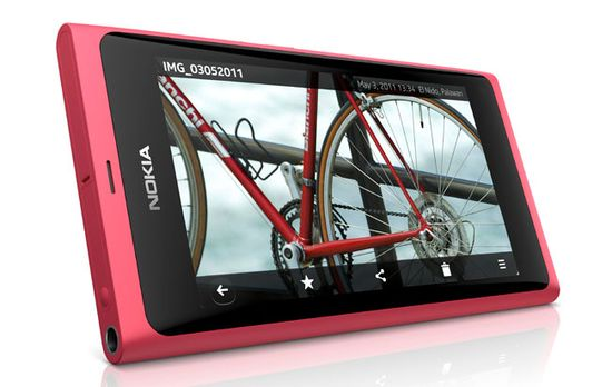 Nokia N9 smarthphone comes with a beautiful hard glass 3.9-inch touchscreen