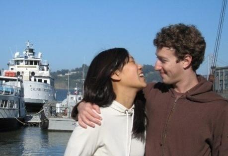 Mark Zucklerberg with his girlfriend Priscilla Chan during a trip to San Francisco