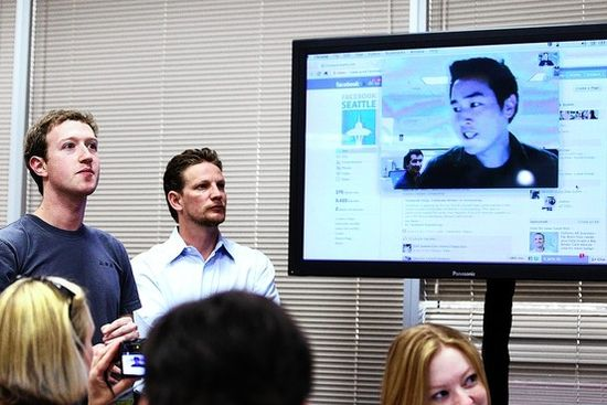 Mark Zuckerberg views for the 1000th time his new video chat feature