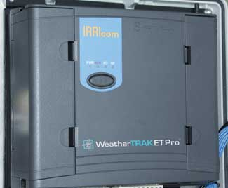 Hydropoint WeatherTRAK ETPro controller used for comemrcial irrigation