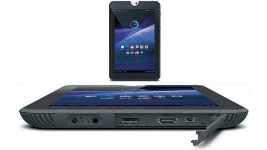 Toshiba Thrive comes with a full-size USB, full-size HDMI and mini USB. Around the corner on the Thrive's bottom right side is a full-sized SD card slot.