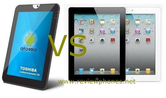 Toshiba versus Ipad Specifications