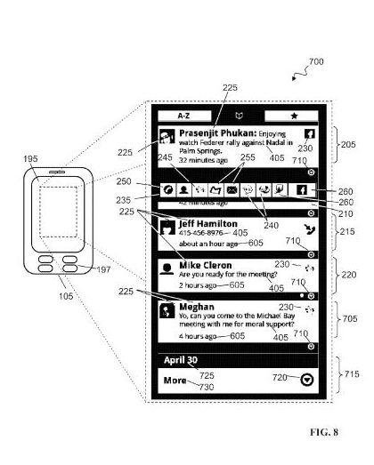 Google Social Hub patent application illustration