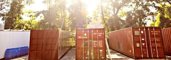 Podponics uses recycled cargo containers like this to grow its vegetables