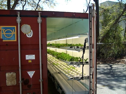 Podponics uses recycled cargo containers to grow locally-grown vegetables