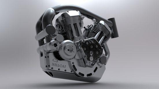 Confederate Motorcycles X132 Hellcat motor