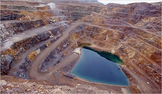 Mountain Pass Mine owned by Molycorp