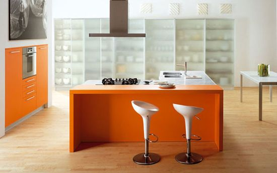 Modular Orange Kitchen 9