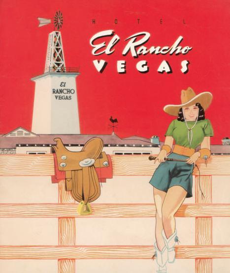 Menu for Hotel El Rancho, Las Vegas, NV, 1942