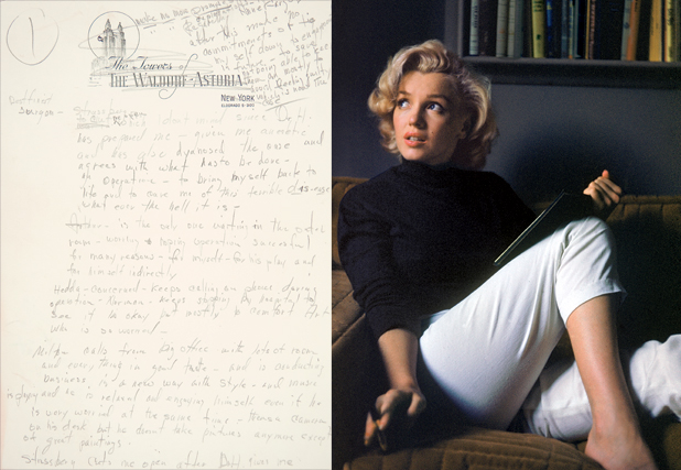 Marilyn Monroe once lived at the Waldorf-Astoria Hotel, New York
