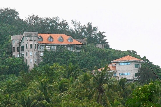 Mr. Millard's half-built castle located on a hill top on Saipaon, U.S. Commonwealth of the Northern Mariana Islands when he left in 1990