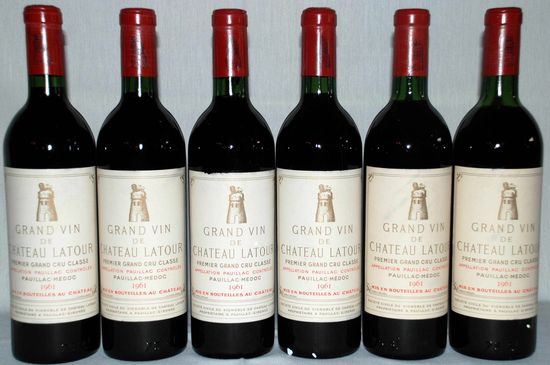 Chateau Latour 1961 Pauillac Bordeaux scored a rating of100 Points. A single case of 12 bottles recently sold for $47,500