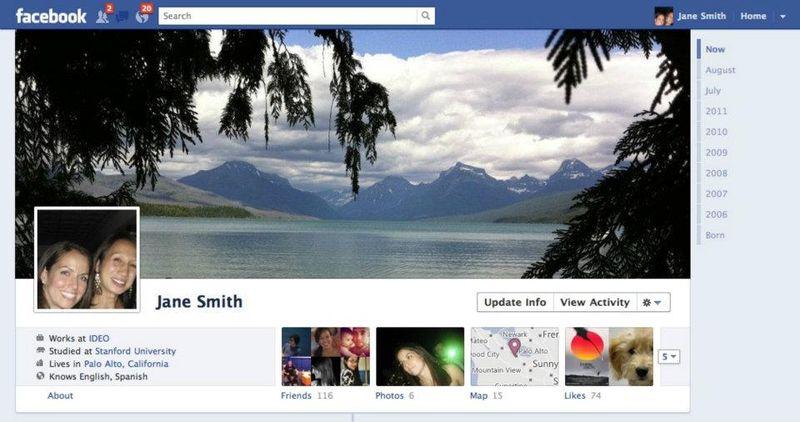 Facebook Timeline Profile A
